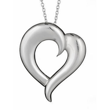 """Just the Two of Us"" Sterling Silver Large Heart Pendant"