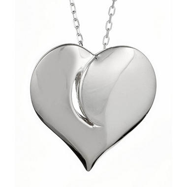 """Light in My Heart"" Sterling Silver Medium Pendant"
