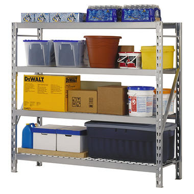 4 Level Storage Rack with Zinc-Plated Wire Decking
