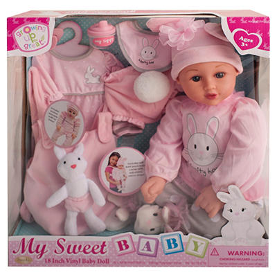 """18"""" Vinyl Baby Doll - Hippity Hop (A)"""