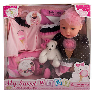 "18"" Vinyl Baby Doll - Ice Cream Sweetie (B)"