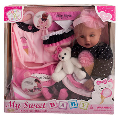 "18"" Vinyl Baby Doll - Ice Cream Sweetie (D)"