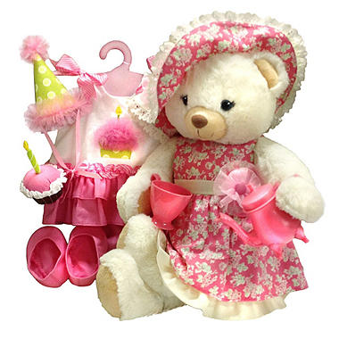 "18"" Plush Dress Up Tea Party Bear"