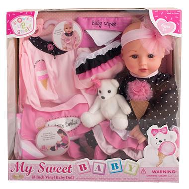 """18"""" Vinyl Baby Doll - Ice Cream Sweetie (A)"""