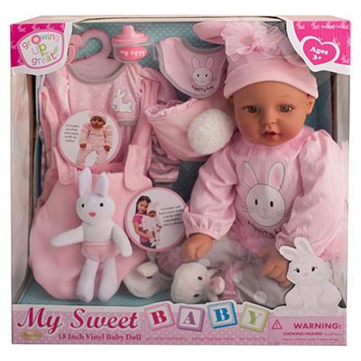 """18"""" Vinyl Baby Doll - Hippity Hop (C)"""