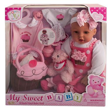 """18"""" Vinyl Baby Doll - Cup Cake Cutie (C)"""