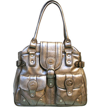 London Fog Audrey Tote - Pewter Patent