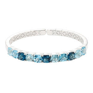 Multi-Color Blue Topaz Bracelet in Sterling Silver