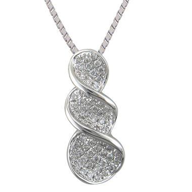 0.25 ct. t.w. Graduated Diamond Pendant in 14k White Gold (H-I, I1)