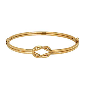 14k Gold Interlocking Bangle