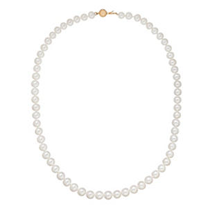 6-7MM Freshwater Cultured Pearl Strand Necklace in 14k Gold
