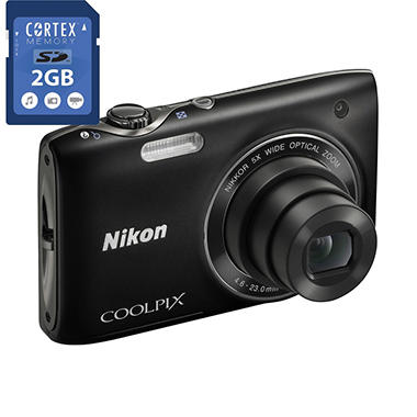 NIKON S3100 2GB CARD BUNDLE