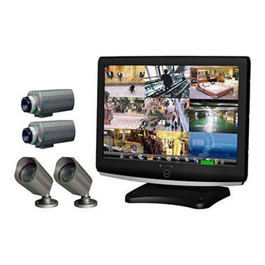 "All-In-One 22"" LCD 4 Camera Security System"