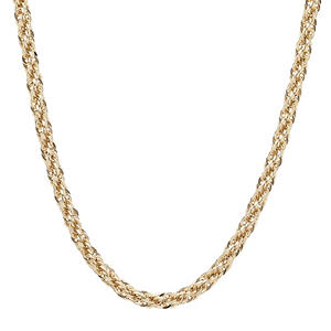 Royale Gold 14K Yellow Gold Square Link Rope Chain 24""