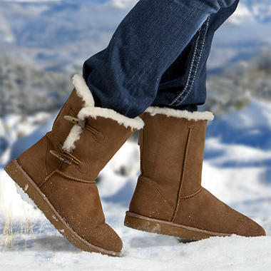 Cozie Steps 100% Sheepskin Ladies Boots - Chestnut