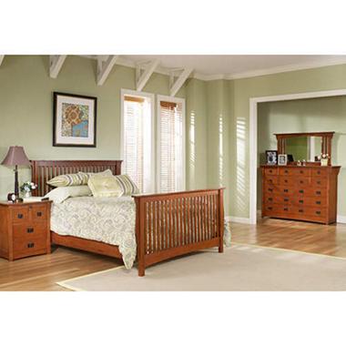 Mission Oak Bedroom Suite King 4 Pc Sam S Club