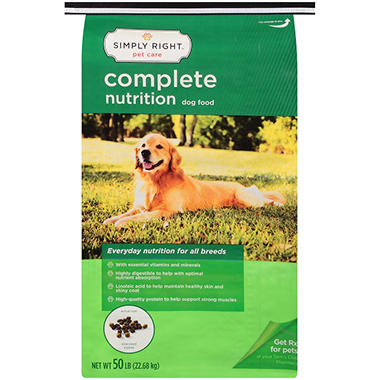 Simply Right Complete Nutrition Dog Food (50 lbs.)
