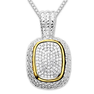 0.46 ct. t.w. Diamond Pendant in Sterling Silver and 14K Yellow Gold (H-I, I1)