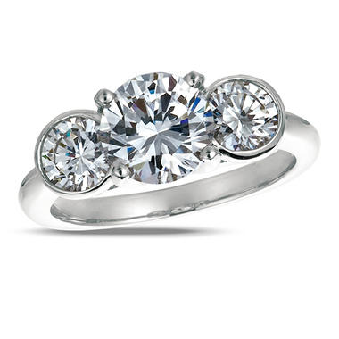 1.50 ct. t.w. Round-Cut Diamond Three Stone Ring in 18K White Gold (I, SI2)