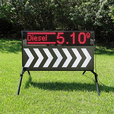Outdoor Signs America Portable LED Sign with Double-Sided Electronic Message Center and Black & White Arrow Faces