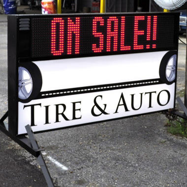 Outdoor Signs America Portable Led Sign With Double Sided