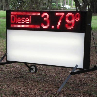 Outdoor Signs America Portable LED Sign with Double-Sided Electronic Message Center and Blank Faces