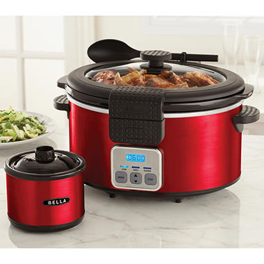 Bella Slow Cooker with Bonus Dipper - Red