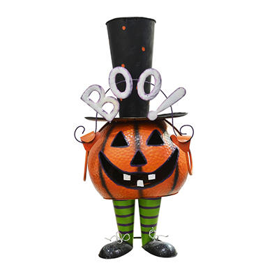 "27.5"" Tall Metal Bouncy Pumpkin - Boy - Original Price $29.98 Save $10.17"