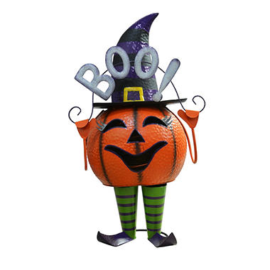 "27.5"" Tall Metal Bouncy Pumpkin - Girl - Original Price $29.98 Save $25.10"