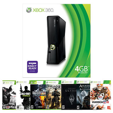 Xbox 360 4GB Console with 1 Game
