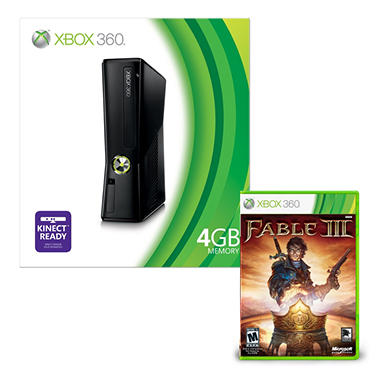 Xbox 360 4GB Console with Fable 3