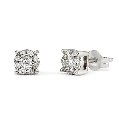 .20 CT.TW. Round Diamond Composite Stud Earring in 14K White Gold (HI/I1)