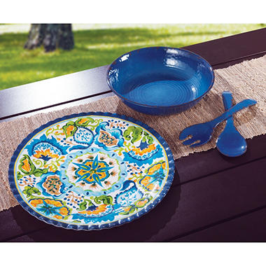 Melamine Serveware Set - Various Colors