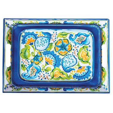 Melamine 3 Piece Serving Tray Set - Various Colors