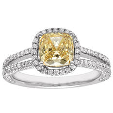 1.86 ct. t.w. Yellow Diamond Bridal Ring (H-I,SI1)