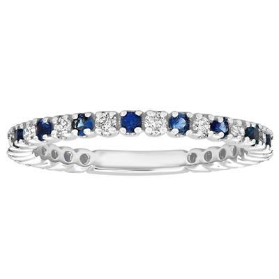 .27 ct. t.w. Diamond & Sapphire Band (H-I, SI1)