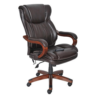 Lane Big & Tall Bonded Leather Massage Chair - Frye Chocolate