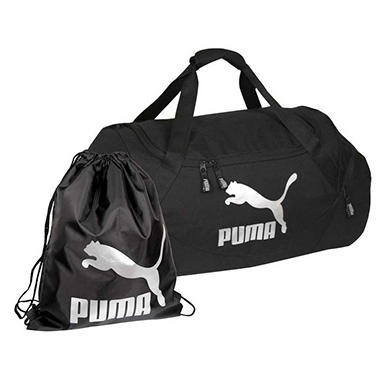 "24"" PUMA Duffel Bag With Gym/Carry Sack - Various Colors"