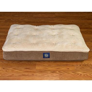 Serta Perfect Sleeper Super Pillowtop Pet Bed Grey On