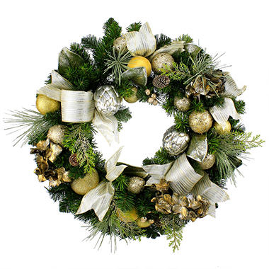 "Hand-Crafted Decorated 30"" Pine Wreath - Choose Your Style"