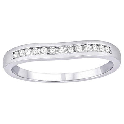 0.15 ct. t.w. Diamond Enhancer Ring in 14k White Gold (H-I, I1)