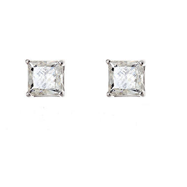 Princess Cut Diamond Studs in 14K White Gold (0.95 ct. t.w.)
