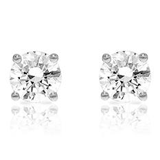 Round Cut Diamond Studs in 14K White Gold (0.72 ct. t.w.)