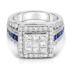 1.65 ct. tw. Diamond Ring in 14K White Gold (HI-I1)