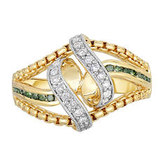 0.30 ct. tw. Diamond Ring in Sterling Silver with14 Karat Yellow Gold (I,I1)