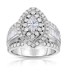 1.95 CT. T.W. Marquise Diamond Ring in 14K White Gold (I-I1)