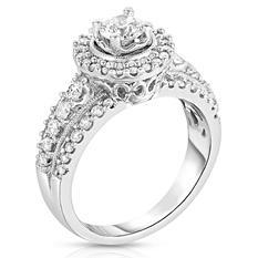 1.20 ct. t.w.  Round Diamond Diamond Ring in 14KW (I,SI2)