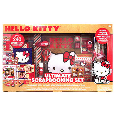 Hello Kitty Ultimate Scrapbooking Set - Over 240 Scrapbooking Essentials