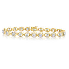 Round Cut Diamond Bracelet in 14k Yellow Gold (1.95 ct. t.w.)
