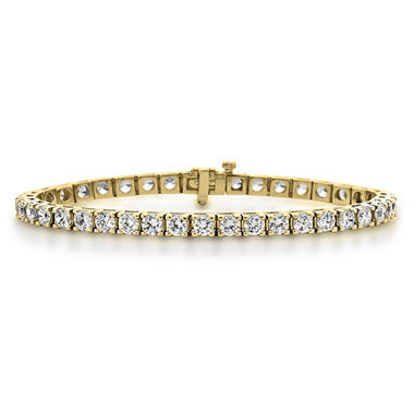 4.95 CT. T.W. Diamond Tennis Bracelet in 14K Yellow Gold (H-I, I1)
